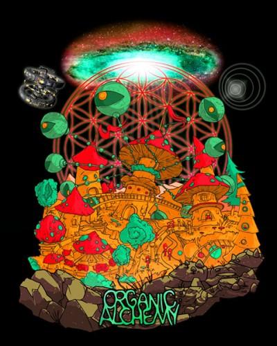 Футболка «Organic Alchemy», светится в темноте и УФ