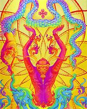 Флюро полотно «Индра», светится в УФ