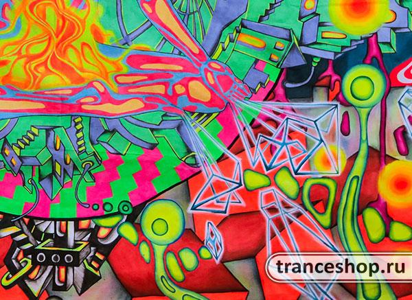 Флюро полотно «City Yog», светится в УФ