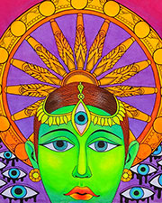 Samsara UV Banner, glow in UV