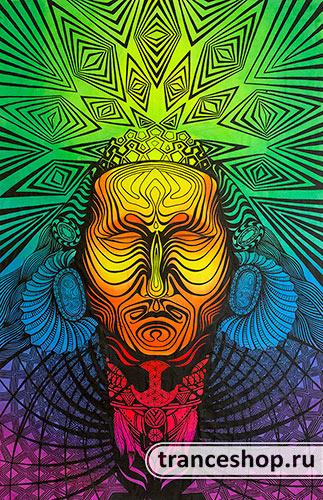 Флюро полотно «Шаманизм», светится в УФ