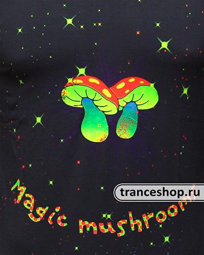 Футболка «Magic Mushrooms», светится в УФ