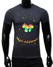 Magic Mushrooms T-shirt, glow in UV