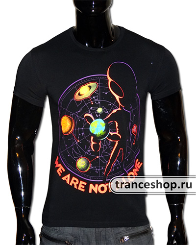 We Are Not Alone T-shirt, glow in UV