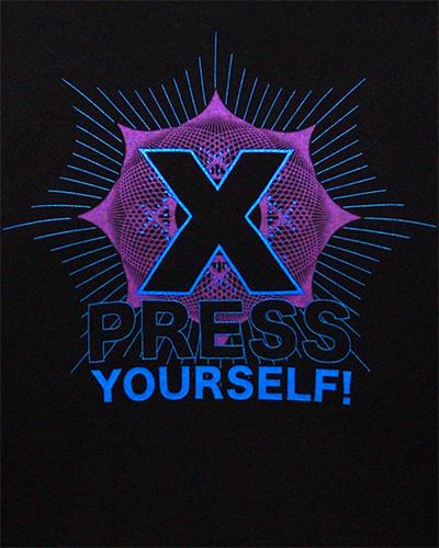 Футболка «Express Youeself», светится в УФ
