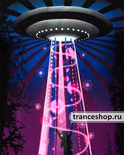 Футболка «UFO Dancer», светится в темноте и УФ
