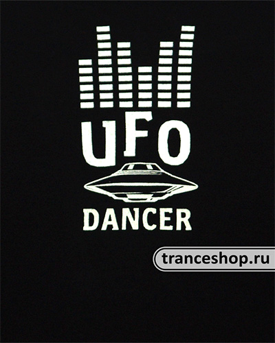 UFO Dancer T-shirt, glow in dark & UV