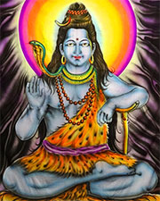 Shiva UV Banner, glow in UV