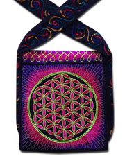 Flower of Life Embroideed bag