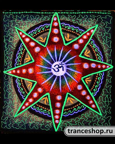 Star Embroideed bag, glow in UV