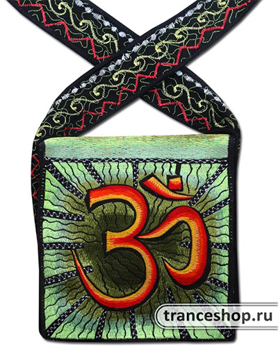 Om Embroideed bag, glow in UV