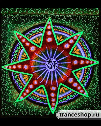 Сумка расшитая Звезда, светится в УФ