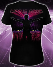 Life is Good T-shirt, glow in dark & UV