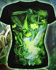 Elf T-shirt, glow in dark & UV