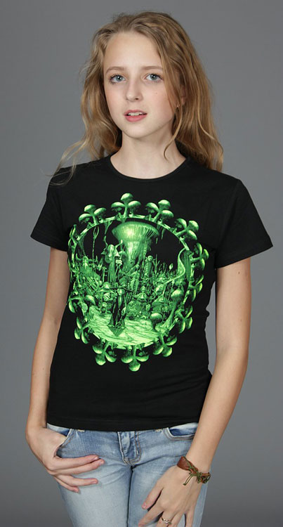 People of Undeground T-shirt, glow in UV