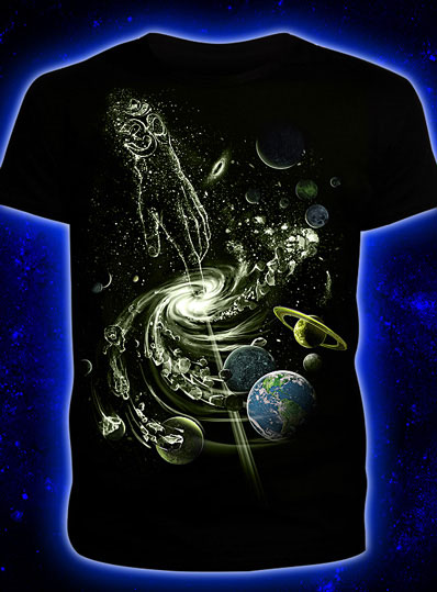 Creation of the Universe T-shirt, glow in dark & UV