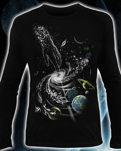 Лонгслив «Создание вселенной», светится в темноте и УФ