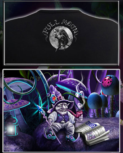 Full Moon T-shirt, glow in dark & UV