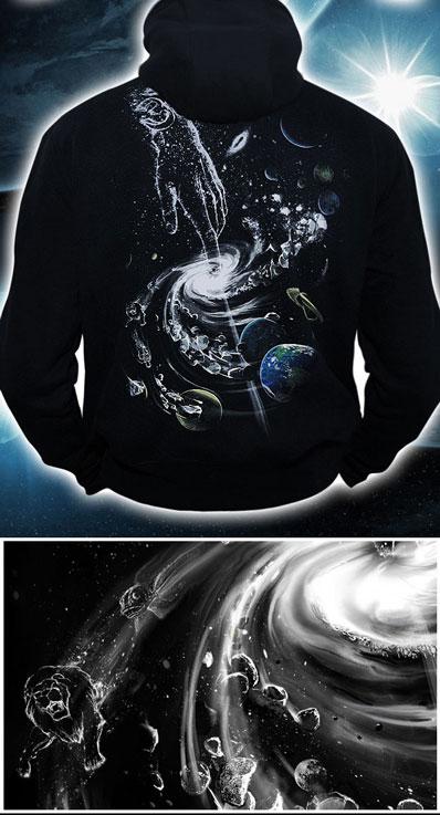 Толстовка «Создание вселенной», светится в темноте и УФ