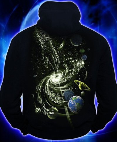 Толстовка Создание вселенной, светится в темноте и УФ