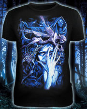 Night Elf T-shirt, glow in dark & UV
