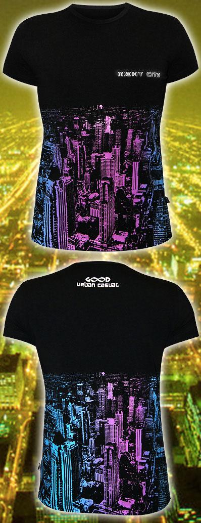 Футболка «Night City», светится в УФ