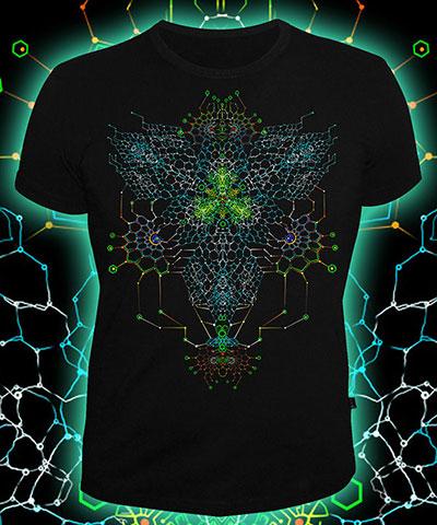 Футболка «Nano Skeleton», светится в темноте и УФ