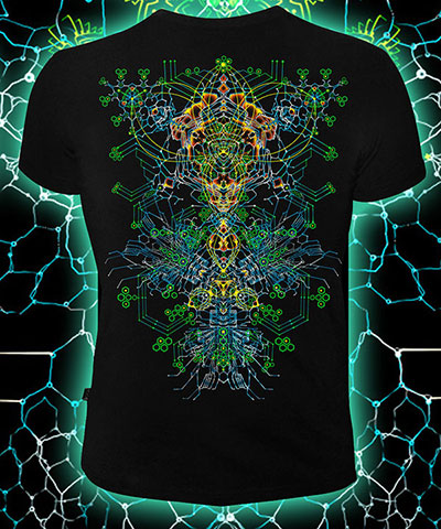 Nano Skeleton T-shirt, glow in dark & UV