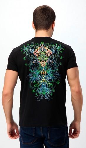 Nano Skeleton T-shirt, glow in dark & UV