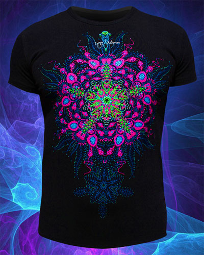 Biorganica T-shirt, glow in UV
