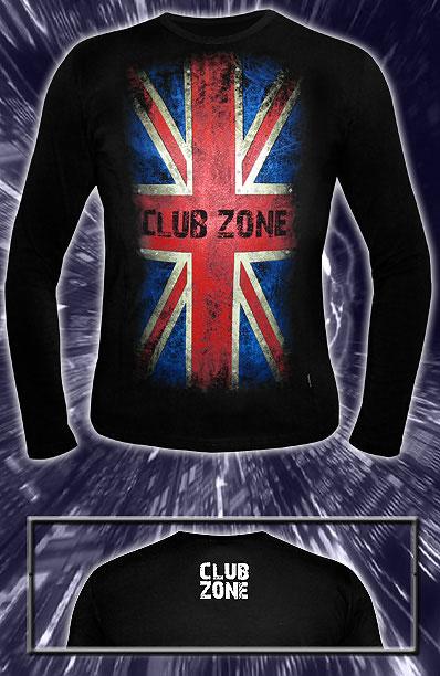 Лонгслив «Club Zone», светится в темноте и УФ