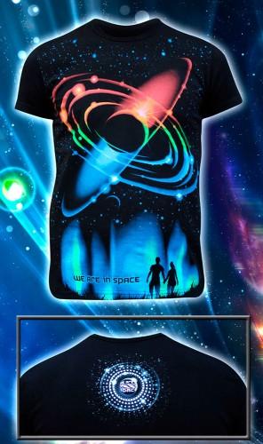 Футболка «We are in Space», светится в темноте и УФ