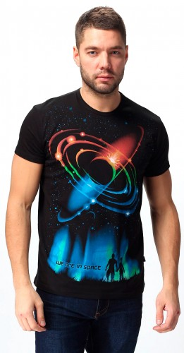 We are in Space T-shirt, glow in dark & UV