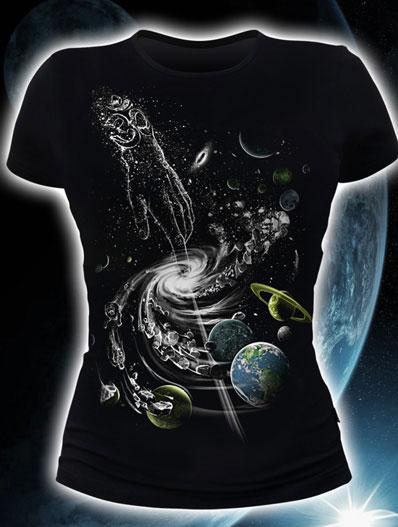 Creation of the Universe T-shirt, glow in dark & UV