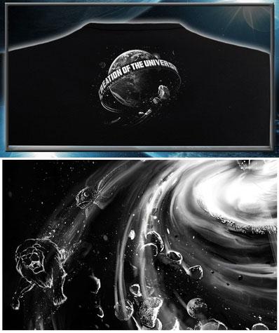 Футболка «Создание вселенной», светится в темноте и УФ