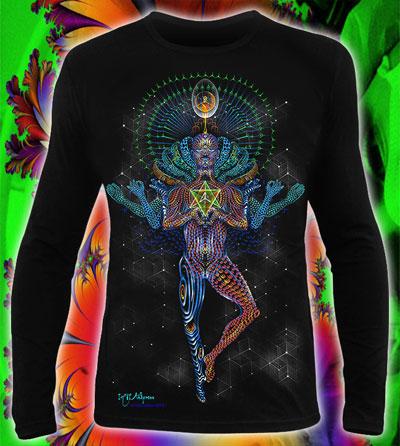 Mechanical Lotus Longsleeve, glow in dark & UV