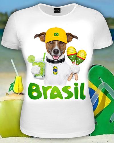 Футболка «Бразилия», светится в УФ