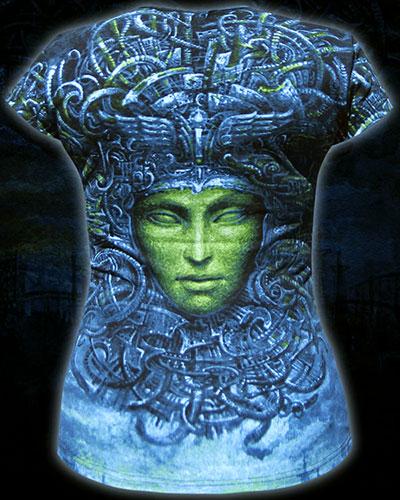 CyberGordon T-shirt, glow in dark & UV