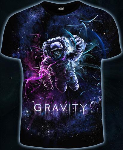 Футболка «Гравитация», светится в темноте и УФ