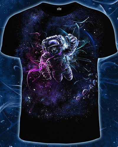 Gravity T-shirt, glow in dark & UV