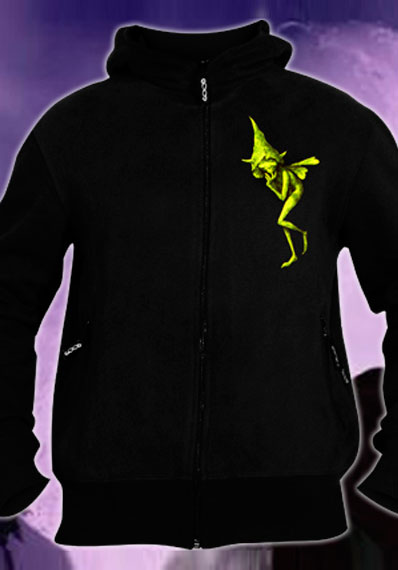 Elf Hoodie, glow in dark & UV