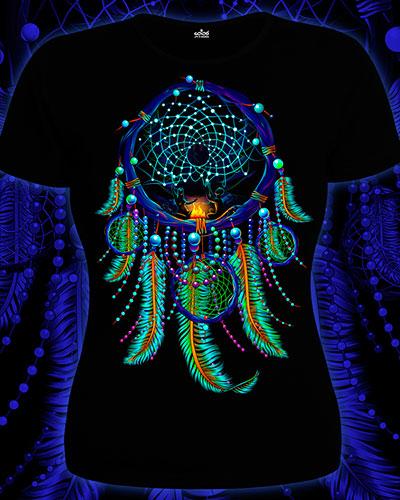 Dream Catcher T-shirt, glow in UV
