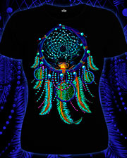 Dream Catcher T-shirt, glow in UV