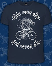 Ride Your Bike T-shirt, glow in dark & UV