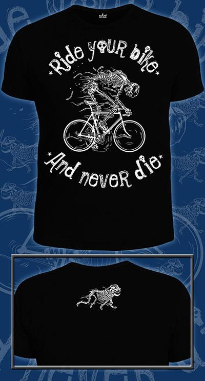 Ride Your Bike T-shirt, glow in dark & UV