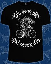 Футболка «Ride Your Bike», светится в темноте и УФ