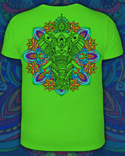 Indian Elephant T-shirt, glow in UV