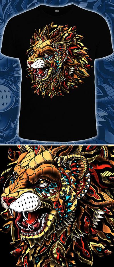 Animals King T-shirt, glow in UV