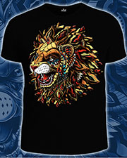 Animals King T-shirt, glow in UV