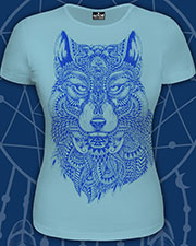 Wolf-Totem T-shirt, glow in UV
